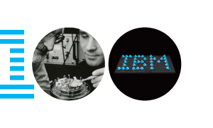 IBM100 Scanning Tunneling Microscope iconic mark