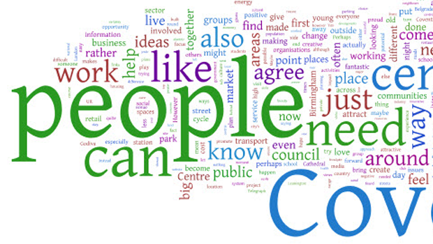 Wordle made for the City of Coventry jam