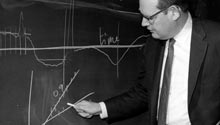 Benoit Mandelbrot at the chalk board