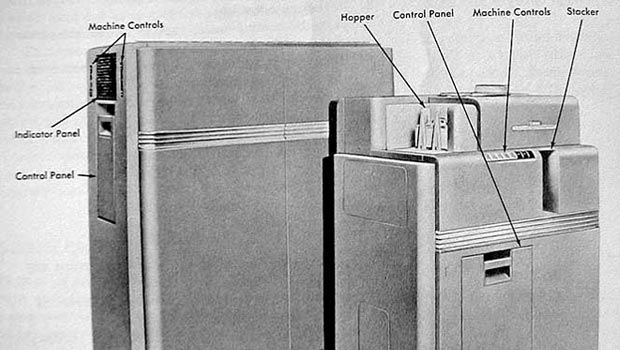 The IBM 604 detailing what each part is