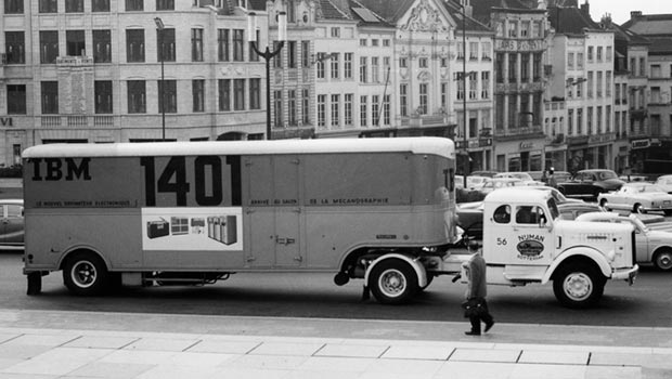 1401 Datamobile at Mont des Arts in Brussels