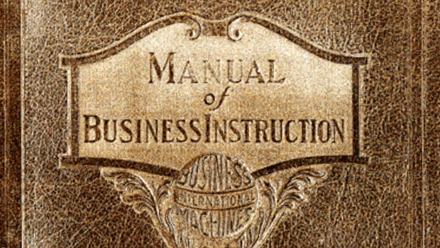 An example of the IBM Global Sales Manual, originally called the Manual of Business Instruction
