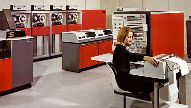 IBM System/360 colors custom yellow ASB bank data center