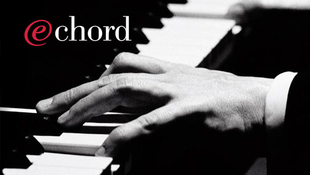 E-business ad: (Hands on piano keys) e-chord - Putting digital music on the web. IBM technology puts it at your fingertips.