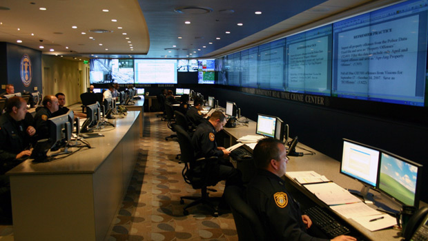 Memphis officers at command center