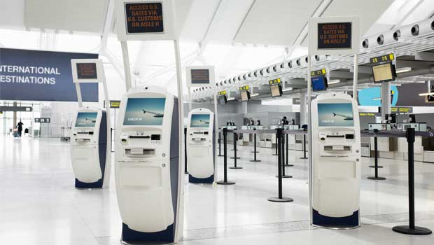 Airport ticket kiosks