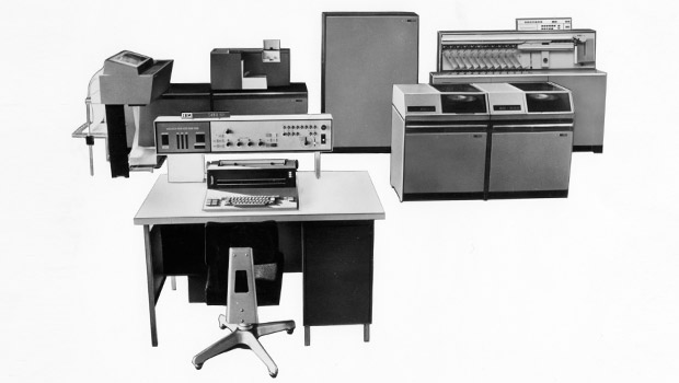 An IBM 1450 bank data processing system