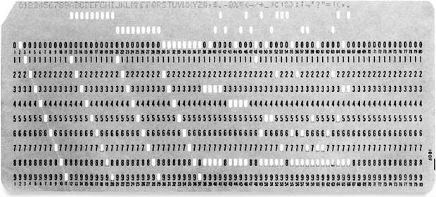 80 column Punched Card