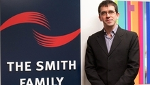 Rob Barker, an IBM technical support manager, at the Smith Family office