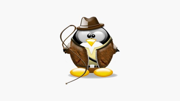 Tux avatar dressed as Indiana Jones