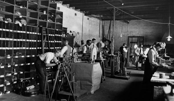 Men working in the Perth facility