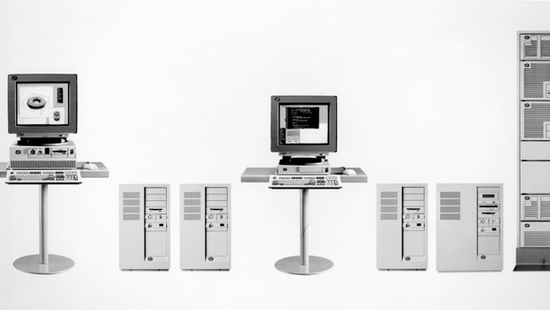 Image of the server and computer hardware that comprises the IBM RS/6000