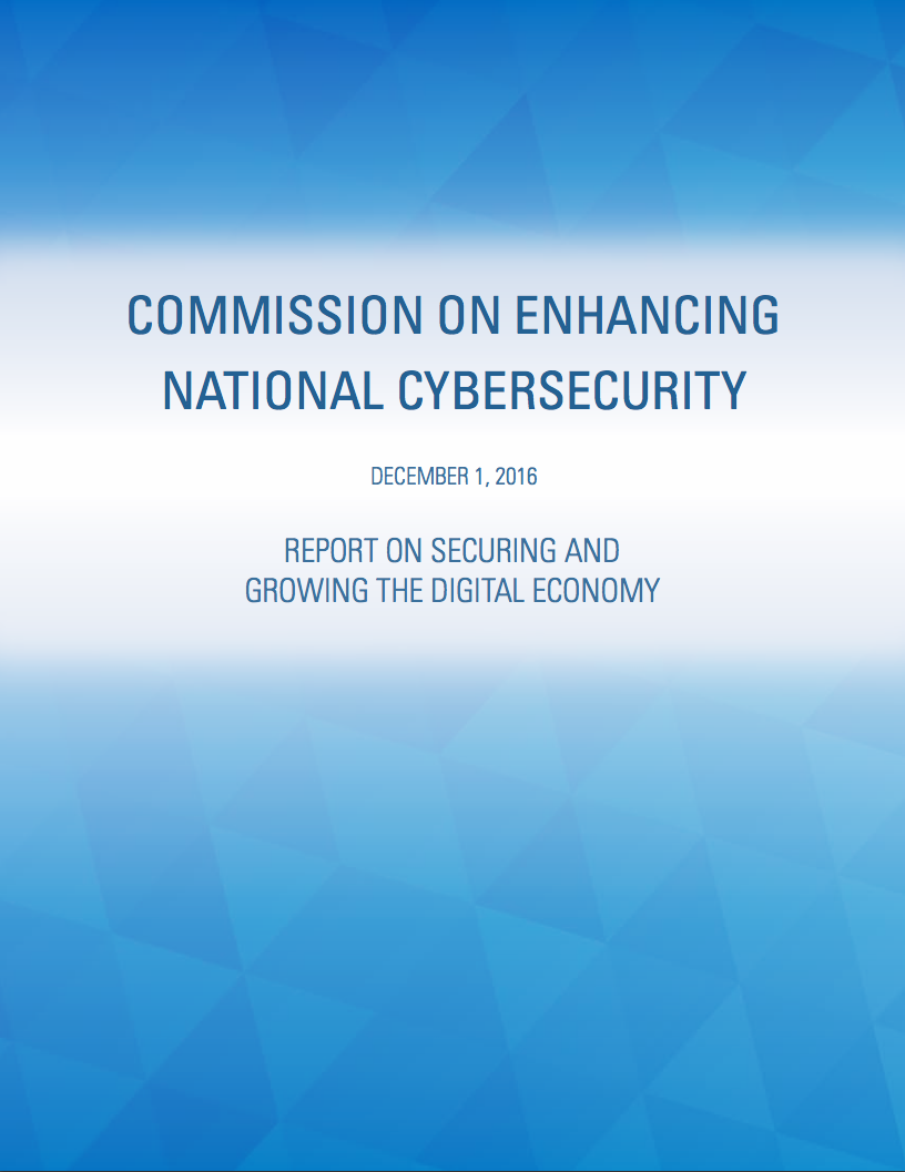 Commission on Enhancing National Cyber-Security