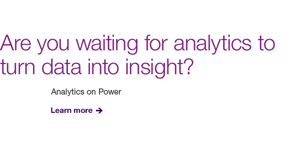 Are you waiting for analytics to turn data into insight?