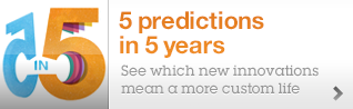 5 predictions in 5 years. See which new innovations mean a more custom life