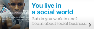 You live in a social world. But do you work in one?