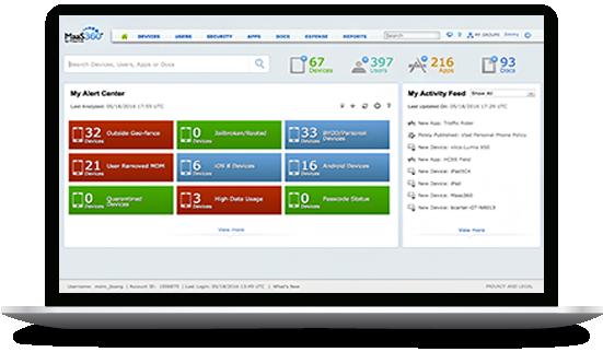 Schermata di IBM MaaS360 with Watson