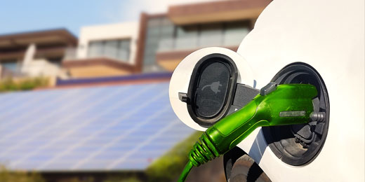 A solar panel and an electric car had an energetic chat …
