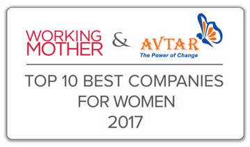 WORKING MOTHER & AVTAR TOP 10 BEST COMPANIES FOR WOMEN 2017