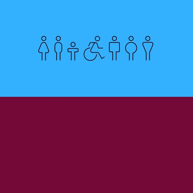 Icon representation of 7 different people of different abilities