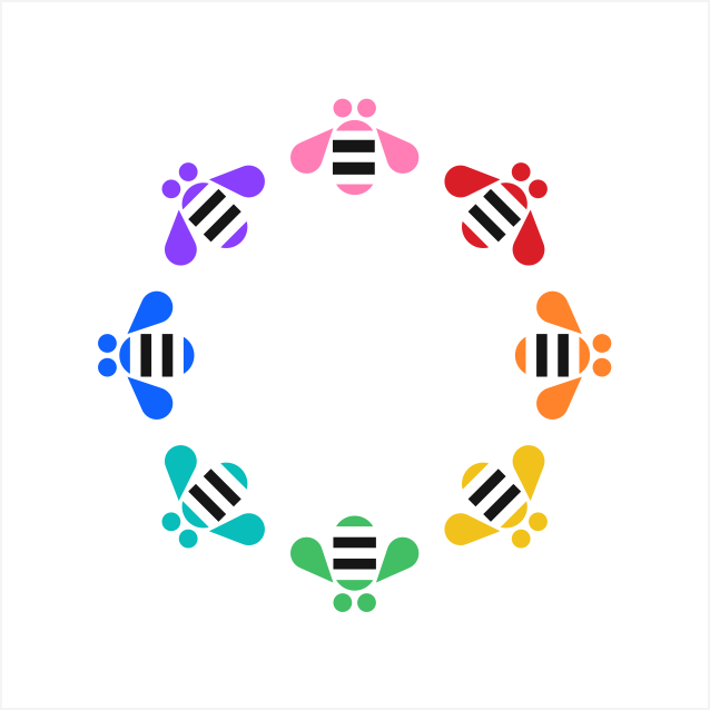 Colorful IBM Bees