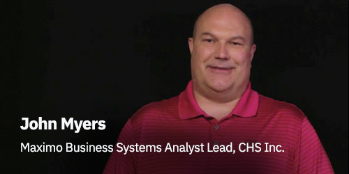 John Myers Maximo Business Systems Analyst Lead, CHS Inc. - Man on red shirt