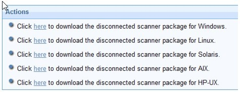 BigFix console - Disconnected Scanner Package for AIX