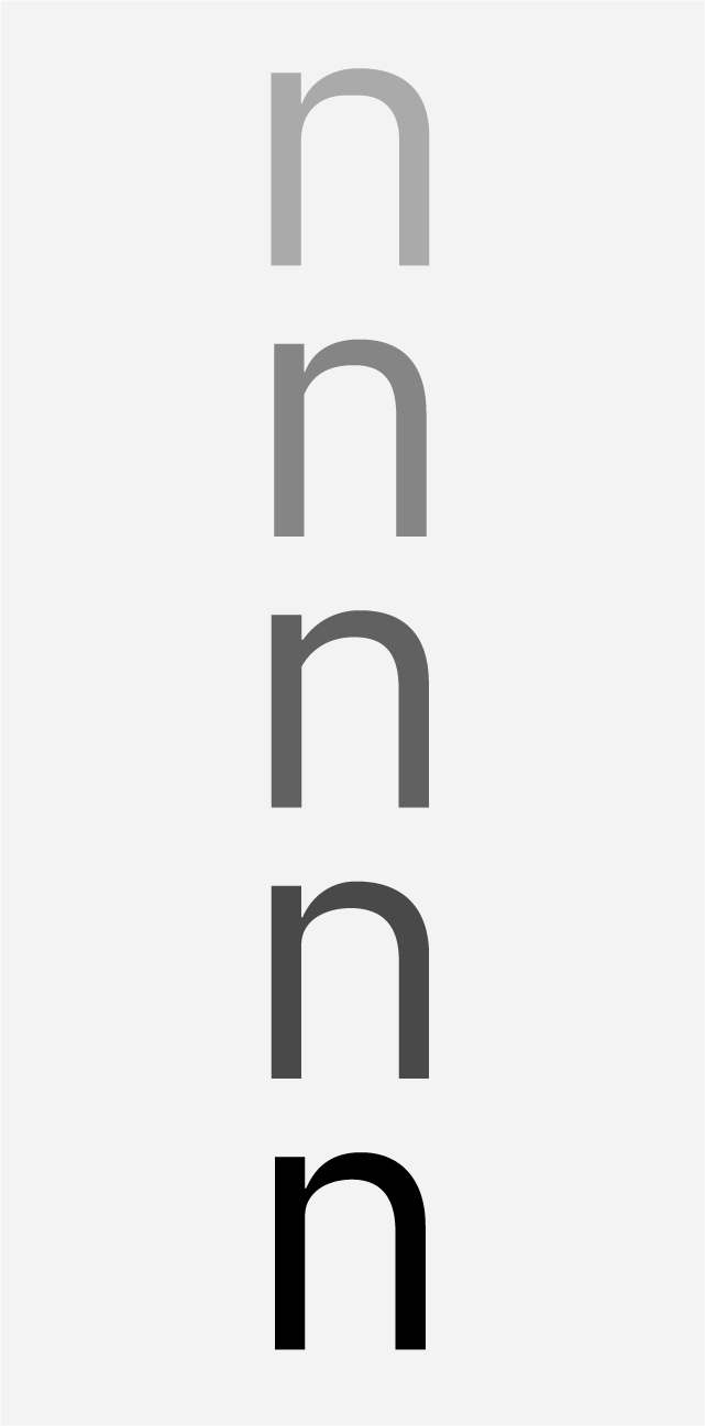 "[↓] We studied copious joint styles, contrasts and transitions during our exploration of the lowercase ""n."""