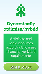 Dynamically optimize/hybrid. Anticipate and scale resources accordingly to meet changing workload requirements Read more
