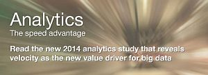 Analytics. The speed advantage. Read the new 2014 analytics study that reveals velocity as the values driver for big data
