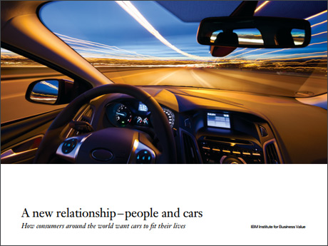A new relationship-people and cars