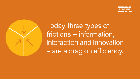 Today, three types of frictions - information, interaction and innovation - are a drag on efficiency.