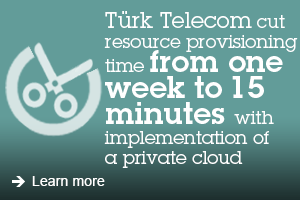 Türk Telecom cut resource provisioning time from one week to 15 minutes with implementation of a private cloud. Learn more.T
