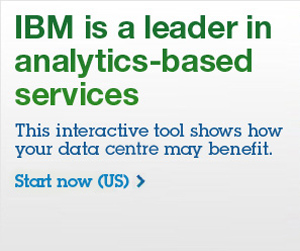IBM is a leader in analytics-based services. This interactive tool show how your data centre may benefit. Start now (US).