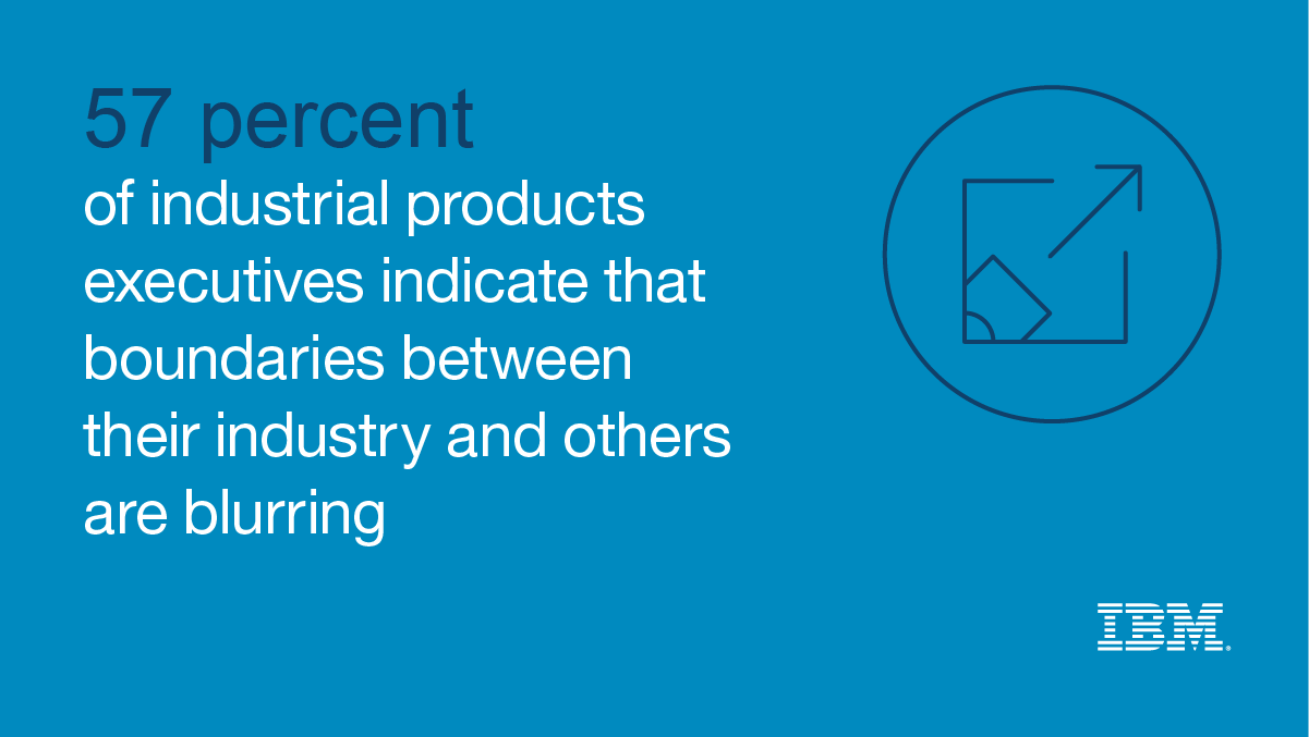 57 percent of industrial products executives indicate that boundaries between their industry and others are blurring - IBM