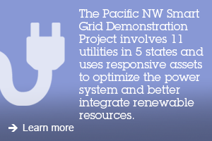 The Pacific NW Smart Grid Demonstration Project involves 11 utilities in 5 states and uses responsive assets to optimize the power system and better integrate renewable resources. Learn more.