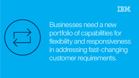 Business need a new portfolio of capabilities for flexibility and responsiveness in addressing fast-changing customer requirements.