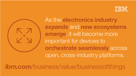 As the electronics industry expands and new ecosystems emerge, it will become more important for devices to orchestrate seamlessly across open, cross-industry platforms.