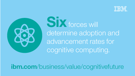 Six forces will determine adoption and advancement rates for cognitive computing. ibm.com/business/value/cognitivefuture