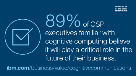89% of CSP executives familiar with cognitive computing believe it will play a critical role in the future of their business.