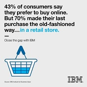 43% of consumers say they prefer to buy online. But 70% made their last purchase the old-fashioned way...in a retail store. Close the gap with IBM.