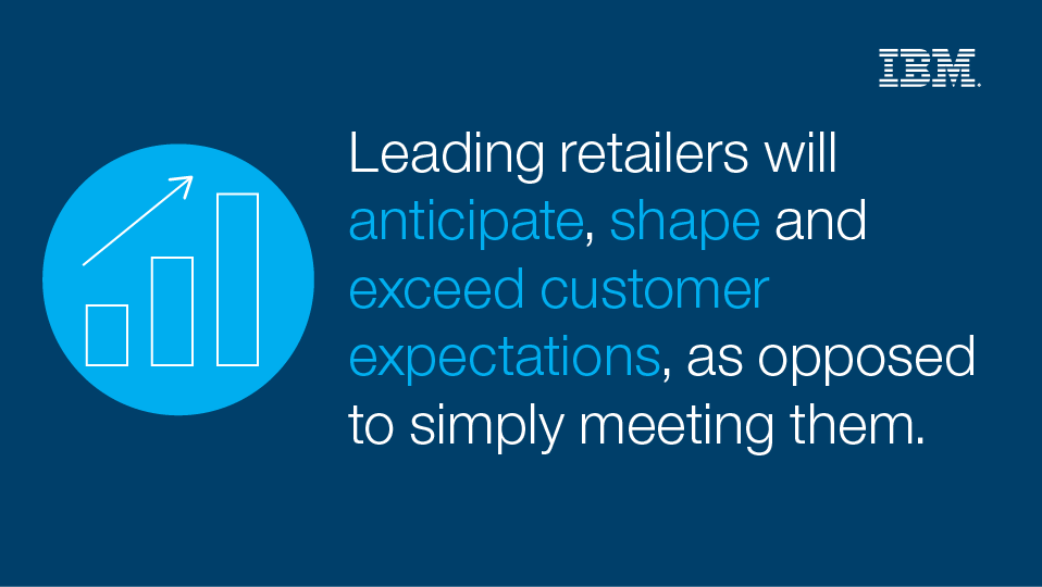 Leading retailers will anticipate, shape and exceed customer expectation, as opposed to simply meeting them.