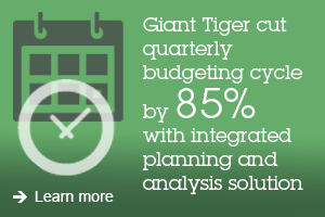 Great Tiger cut quarterly budgeting cycle by 85% with integrated planning and analysis solution. Learn more.