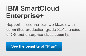 IBM SmartCloud Enterprise+. Support mission-critical workloads with committed production-grade SLAs, choice of OS and enterprise-class security.