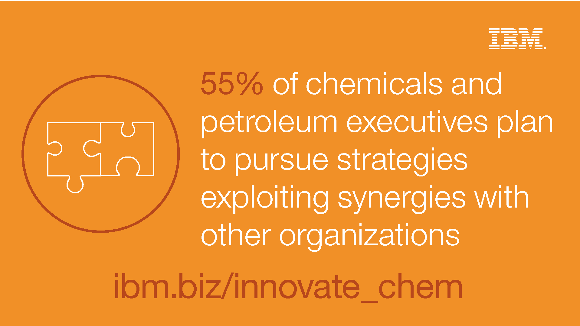 55% of chemicals and petroleum executives plan to pursue strategies exploiting synergies with other organizations