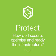 Protect. How do I secure, optimise and ready the infrastructure?