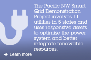 The Pacific NW Smart Grid Demonstration Project involves 11 utilities in 5 states and uses responsive assets to optimise the power system and better integrate renewable resources. Learn more.