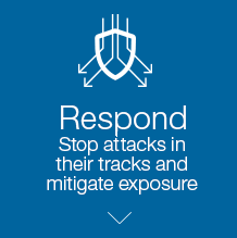 Respond. Stop attacks in their tracks and mitigate exposure.