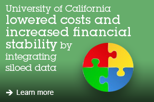 University of California lowered costs and increased financial stability by integrating siloed data. Learn more