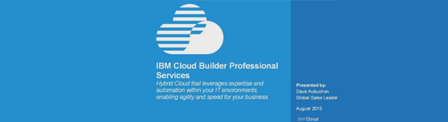 IBM Cloud Builder Professional Services - United States